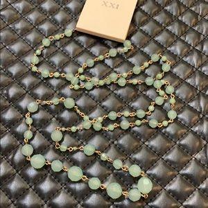 🆕XXII Boho Emerald Resin Layering Bead Necklace